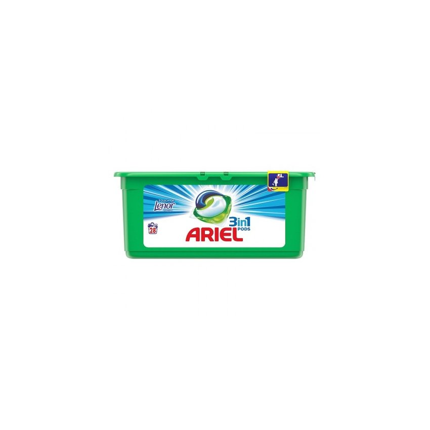 ARIEL GEL. KAPSLE LENOR FRESH 28KS